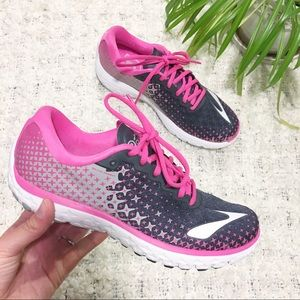 Brooks Pure Flow 5 Running Shoes Pink Black Sz 8